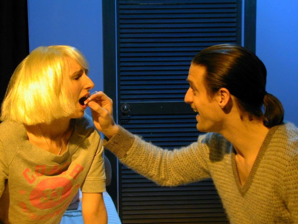 Anna Olson [Nugent] (Loretta) and Charlie Kranz (Michael)