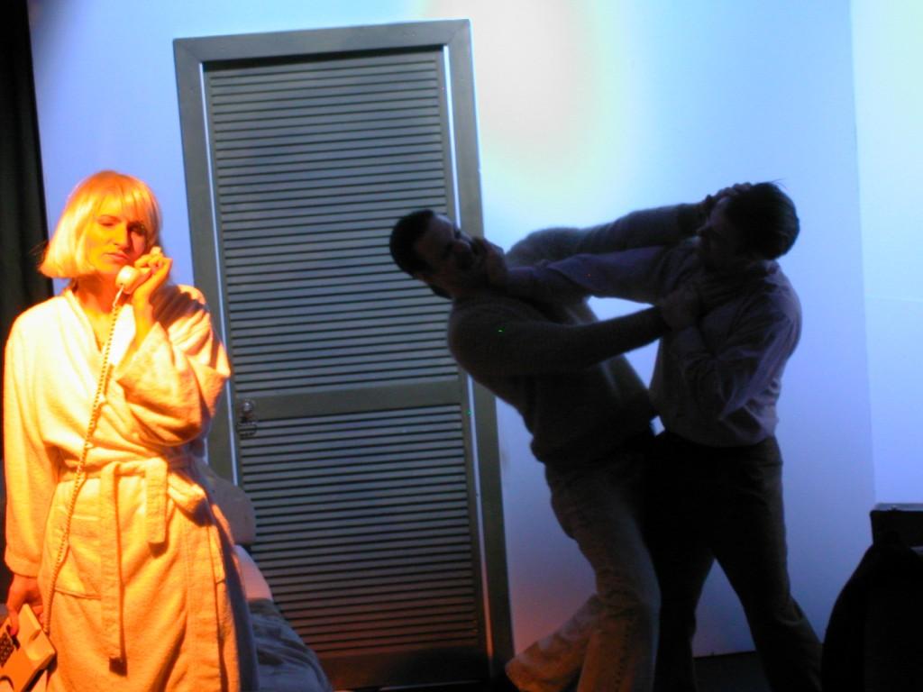 Anna Olson [Nugent] (Loretta), Charlie Kranz (Michael) and Alan Walsh (Dave).
