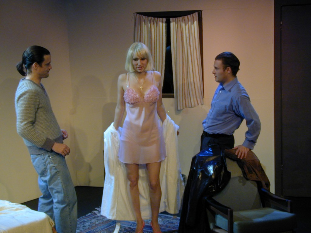 Charlie Kranz (Michael), Anna Olson [Nugent] (Loretta) and Alan Walsh (Dave)