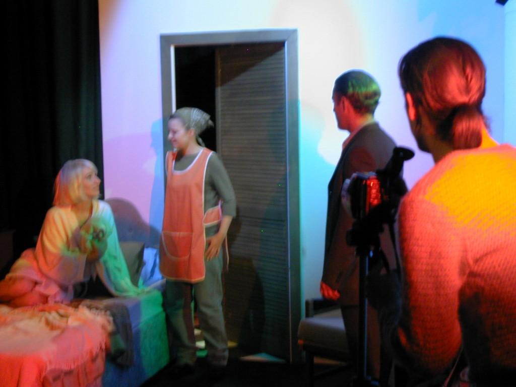 Anna Olson [Nugent] (Loretta), Tara McKeever (Sophie), Alana Walsh (Dave), and Charlie Kranz (Michael).