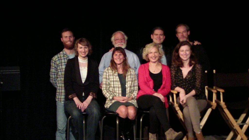 Playwright, director and cast